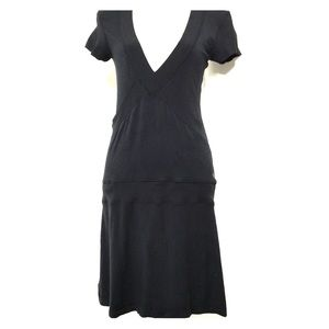 Lululemon Organic Cotton v neck drop waist Dress